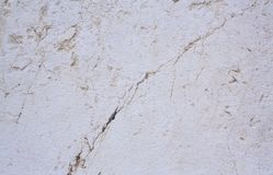 A rough untreated surface is a natural stone surface. The texture of the natural rock is the background. Granite or cracked marble.  Royalty Free Stock Photography