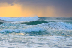 Rough water of Pacific Ocean Stock Photo