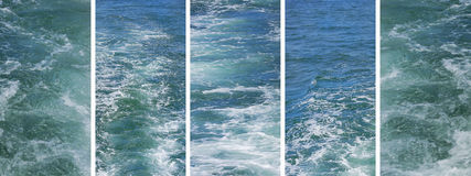 Rough water panoramic banner. Set of rough water photos in panoramic banner Royalty Free Stock Images