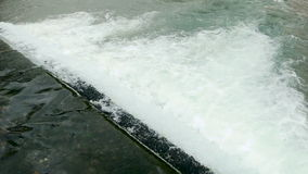 Rough water rapids on the diagonal in Abkhazia. In the morning stock footage
