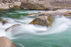 Rough water rapids Royalty Free Stock Image