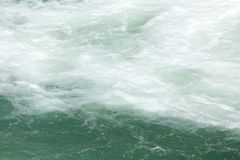 Rough water on the surface.  Royalty Free Stock Photo