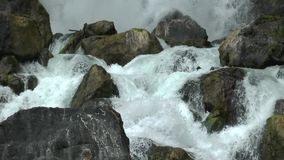 Rough waterfall stock footage
