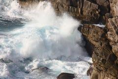 Rough waves. At Cape Ashizuri, Kochi, Japan Royalty Free Stock Photos
