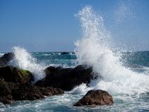 Rough waves. At Cape Muroto Stock Image