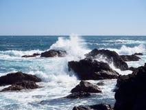 Rough waves. At Cape Muroto, Kochi, Japan Royalty Free Stock Images