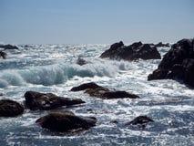 Rough waves. At Cape Muroto, Kochi, Japan Stock Photo