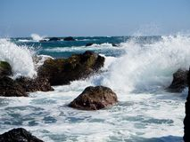 Rough waves. At Cape Muroto, Kochi, Japan Stock Photos