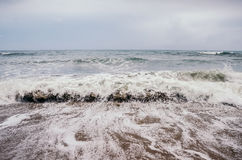Rough waves of ocean Stock Photos
