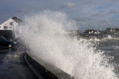 Rough weather at Trearddur Bay Royalty Free Stock Image