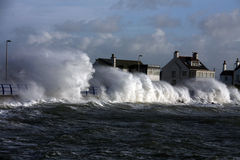 Rough weather at Trearddur Bay Stock Photography