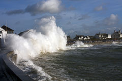 Rough weather at Trearddur Bay Royalty Free Stock Images