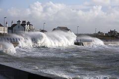 Rough weather at Trearddur Bay Stock Photo