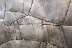 Welded metal background. Rough welded metal texture background stock image