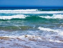 Rough Pacific Ocean waves on Australian Beach royalty free stock photography