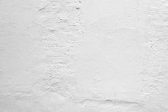 Rough white concrete wall with plaster Stock Image