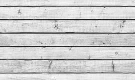 Rough white wooden wall, seamless background Royalty Free Stock Photo