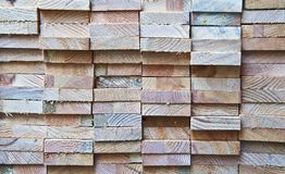 Rough Wooden Blocks Texture. Rough wooden block ends stacked background texture royalty free stock images