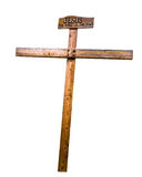 Rough wooden cross Stock Images