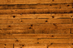 Rough wooden fence. Hewn planks of rough wooden fence Royalty Free Stock Photos