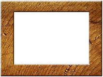 Rough wooden frame Stock Image