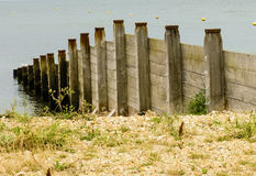 Rough Wooden Groynes Royalty Free Stock Image