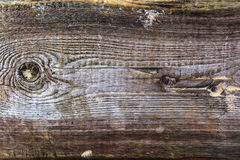 Rough wooden plank visible discoloration knots Stock Photography