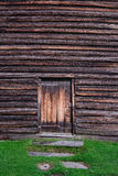 The rough wooden wall, wood texture, background Royalty Free Stock Images