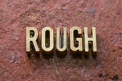 Rough word rust Stock Images