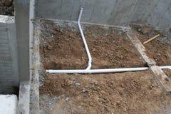 Roughed στα υδραυλικά 4 υπογείων Στοκ εικόνα με δικαίωμα ελεύθερης χρήσης