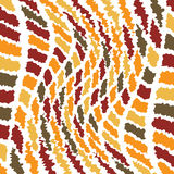 Roughen tile. Abstract tile design in autumn colours with a seamless repeat design Stock Images