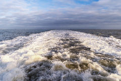 Roughened water Stock Image