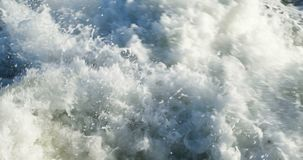 Roughened water in the sea stock video