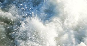 Roughened water in the sea stock footage