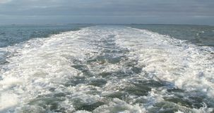 Roughened water in the sea stock video footage