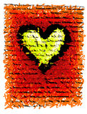 Roughheart background Royalty Free Stock Image
