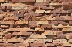 Roughly Textured Brick Wall. Royalty Free Stock Photos