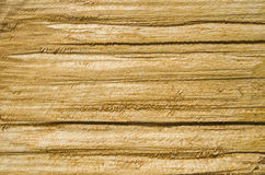 Roughly treated lacquered oak plank closeup Stock Images