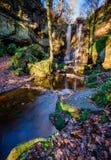 Roughting Linn in Broomridgedean-Brandwond stock fotografie