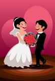 Rougissez d'abord du bonheur matrimonial Photos libres de droits