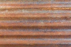 Rouillé galvanisez le fond en métal de texture au loin horizontal image stock