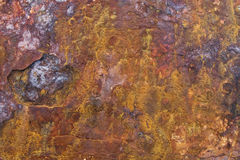 rouille colorée de corrosion