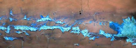 Rouille de panorama et érosion de la surface métallique Image libre de droits