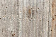 Rouille de zinc Zinguez la texture et le fond Le zinc rouill? de vieux dommages plat le mur photos libres de droits