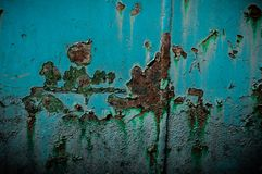 Rouille et élément bleu photographie stock