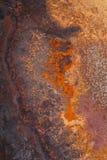 Rouille formant de la plaque de fer photo libre de droits