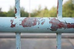 Rouille sur la peinture de fer Image stock