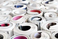 Roulé vers le haut des revues Photographie stock libre de droits