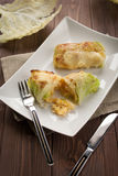 Roulade of cabbage and rice Royalty Free Stock Image