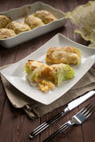 Roulade of cabbage and rice Stock Photos